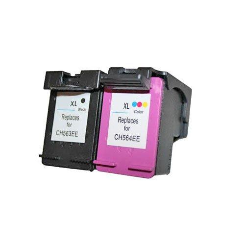 Set 2x alternatief - compatible patroon voor HP 62XL (1x zwart & kleur)