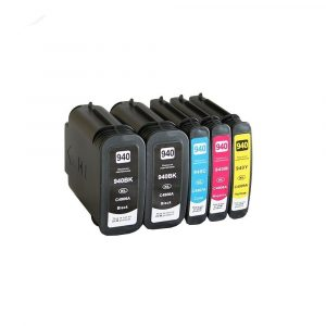 Set 5x alternatief - compatible patroon voor HP 940XL (2xBK+1xCMY)