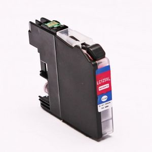 alternatief - compatible inkt cartridge voor Brother LC125XL M magenta (met chip)