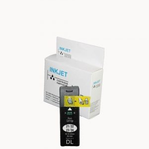 alternatief - compatible inkt cartridge voor Dell 21 zwart wit Label