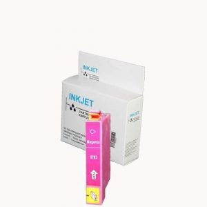alternatief - compatible inkt cartridge voor Epson T0793 magenta wit Label