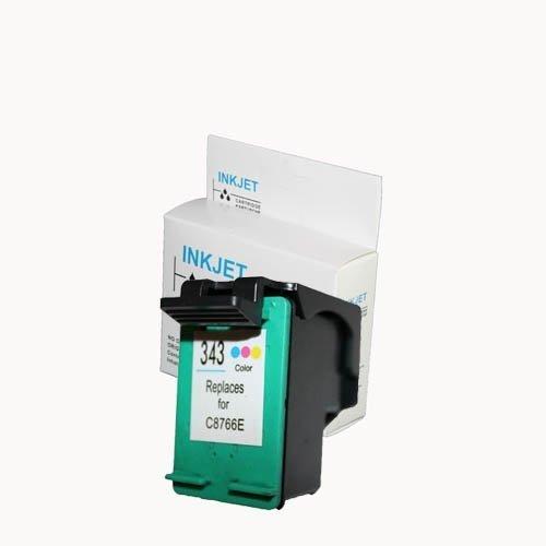 alternatief - compatible inkt cartridge voor Hp 343 kleur wit Label
