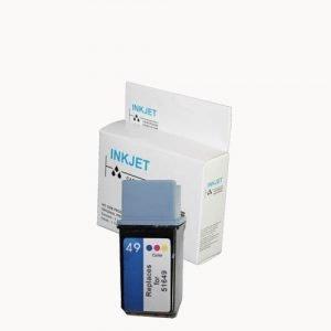 alternatief - compatible inkt cartridge voor Hp 49 kleur wit Label