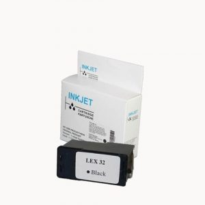 alternatief - compatible inkt cartridge voor Lexmark 32 zwart wit Label